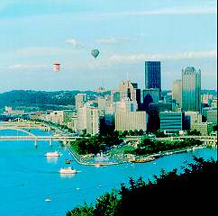 Balloons over Downtown Pittsburgh