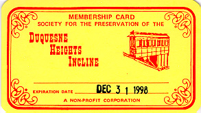 Society Membership Card