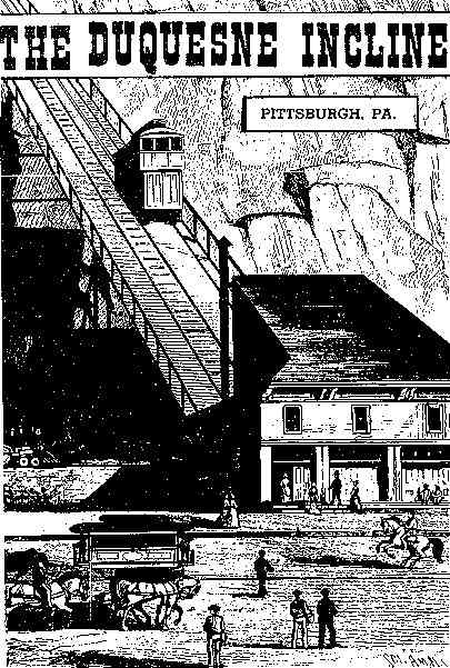 Older view of Duquesne Incline Lower Station and car